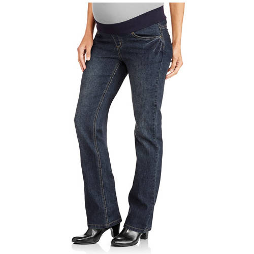 Planet Motherhood Maternity Plus-Size Demi-Panel 5-Pocket Bootcut Jeans