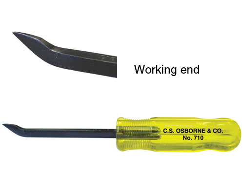 C.S. Osborne No. 710 Groove Staple Remover, Heavy-Duty Staple Tack Puller by
