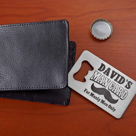 Personalized Man Card Wallet Bottle Opener