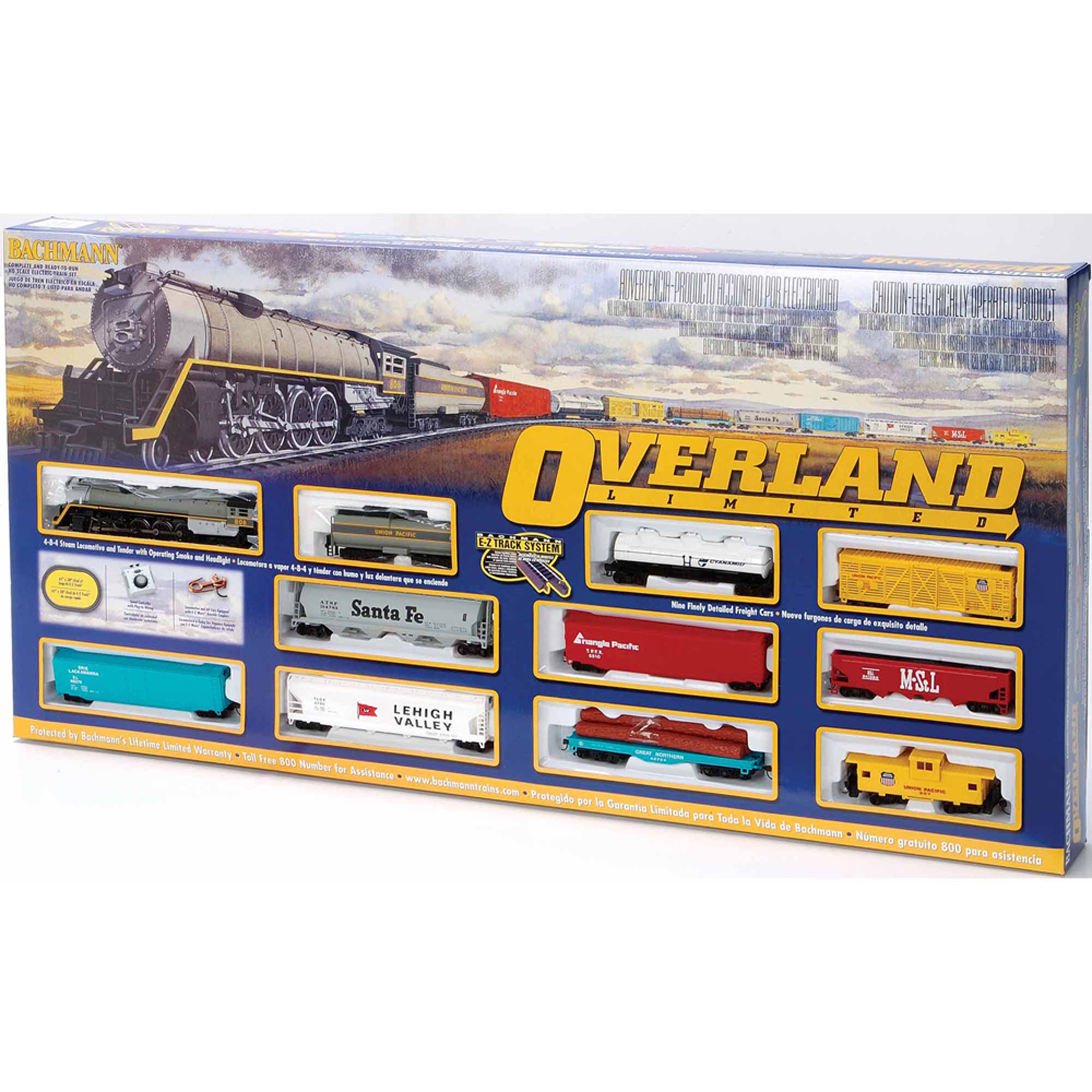 Bachmann Trains Overland Limited, HO Scale Ready-to-Run Electric Train Set