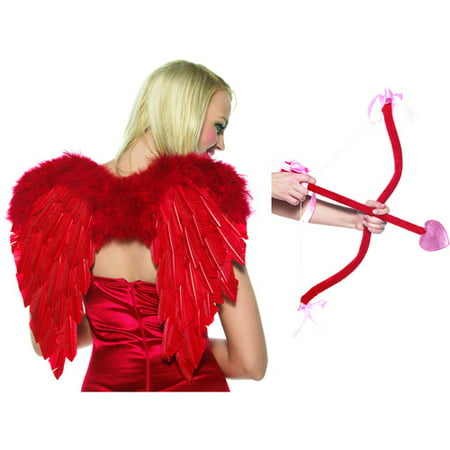 Cupid Costume Men (Leg Avenue Women's Cupid Costume Kit, Red, One)