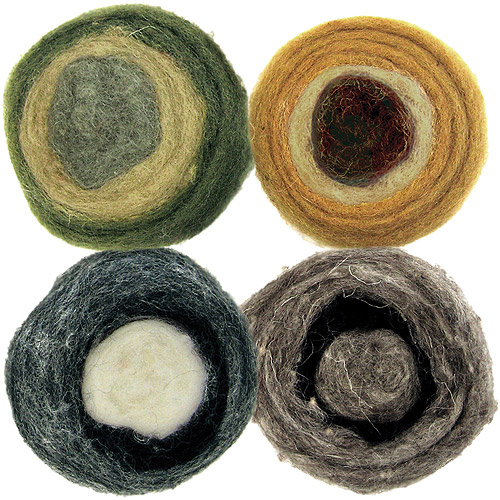 Dimensions Feltworks Earth Tone Roving Rolls, 4/pkg, 2 oz