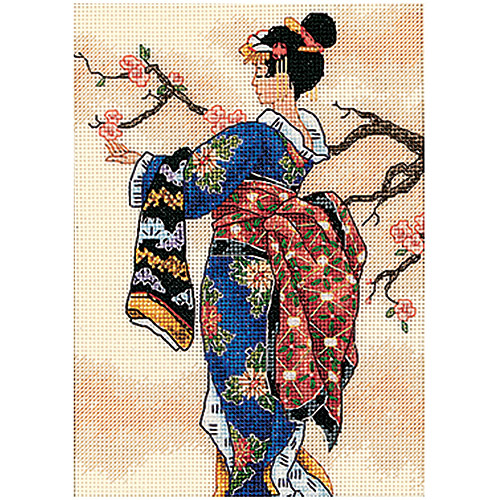 """Dimensions Gold Collection Petite """"Mai"""" Counted Cross Stitch Kit, 5"""" x 7"""""""