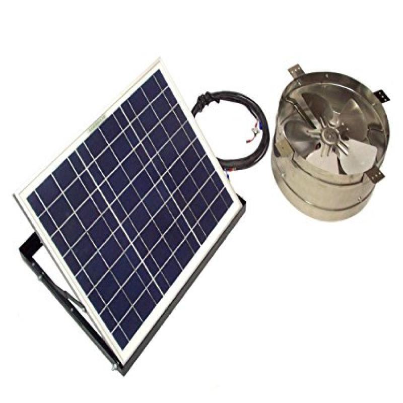 RAND Solar Powered Attic Gable Fan-20 Watt Wall/Roof Vent...