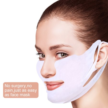 Ashata Lifting Facial Mask V Shape Face Slim Chin Check Neck Lift Firming Whitening Pulling Mask, V Face Mask, Slim Face Mask (Aqua Firming Facial Mask)