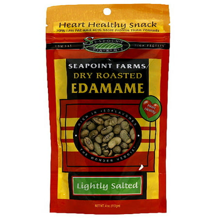 Seapoint Farms Lightly Salted Edamame (Pack of 12), 4 oz (Pack of 12) - Edamame Recipe