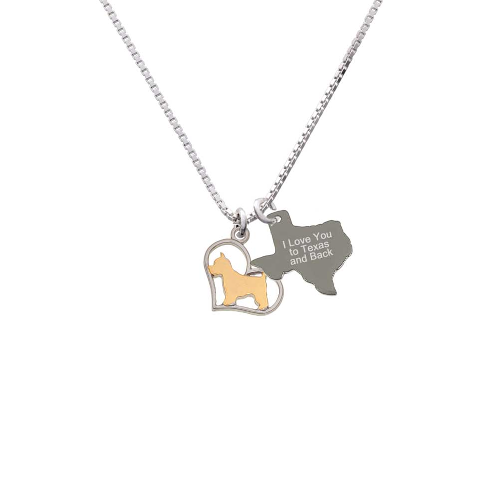 Delight Two-tone Westie Silhouette Heart - I Love You to ...