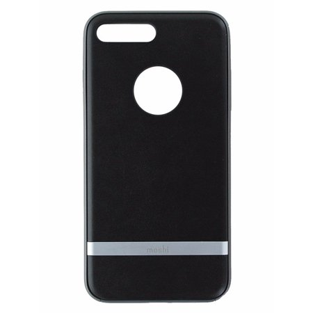 Moshi Napa Series Premium Vegan Leather Case for iPhone 7 Plus - Black / Gray
