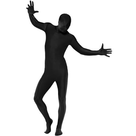 Second Skin Suit Adult Costume (Black) - 2nd Skin Suit