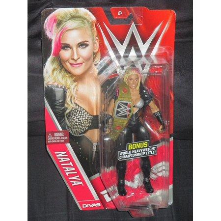 World Series Replica (Divas Edition Natalya Figure With Bonus Mini Replica World Heavyweight Championship Belt, Natalya Mattel WWE Basic Series Chase with Title Belt by WWE By WWE)