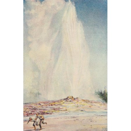 School History of the United States 1918 Geyser in Yellowstone Park Canvas Art - Unknown (18 x 24)