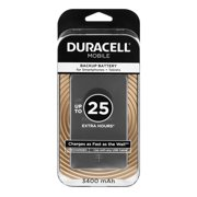 Duracell Mobile Backup Battery for Smartphones + Tablets up to + 25 Extra Hours, 1.0 CT