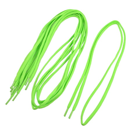 """Unique Bargains Lady Plastic Tips 44"""" Long Cord String Lime Green Shoelaces 3 Pairs"""