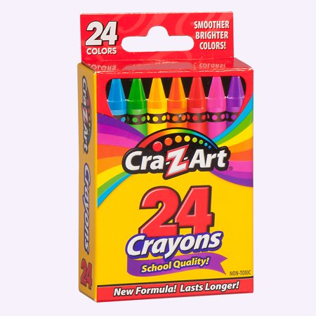 (6 Pack) Cra-Z-Art School Quality Crayons, Smoother and Brighter - 24 Count