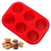 Home Products Silicone Muffin Pan Cupcake Baking 6 Cup Non-Stick Tray Bakeware