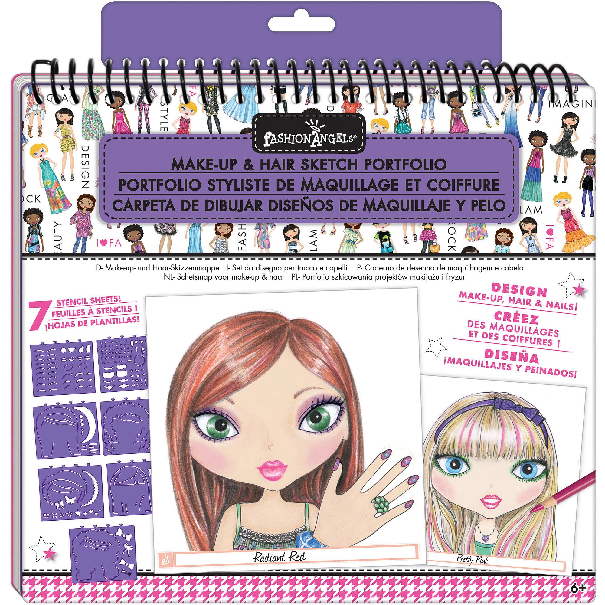 Fashion Angels Make-Up Design Sketch Portfolio
