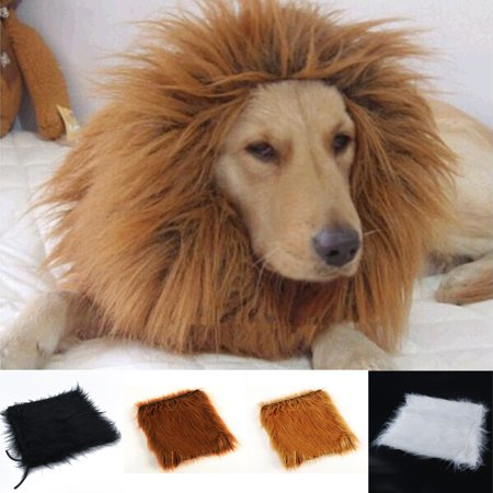 Heepo Pet Costume Lion Mane Wig for Dog Halloween Clothes Festival Fancy Dress Up