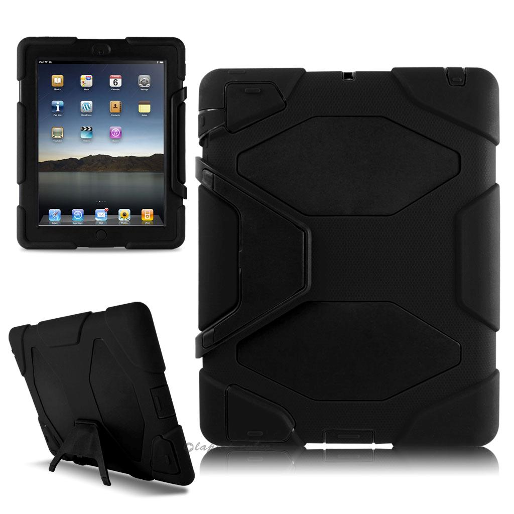 Heavy Duty Shockproof Case W/ Stand for Apple Ipad Mini 1/2/3 - Black - image 1 of 1