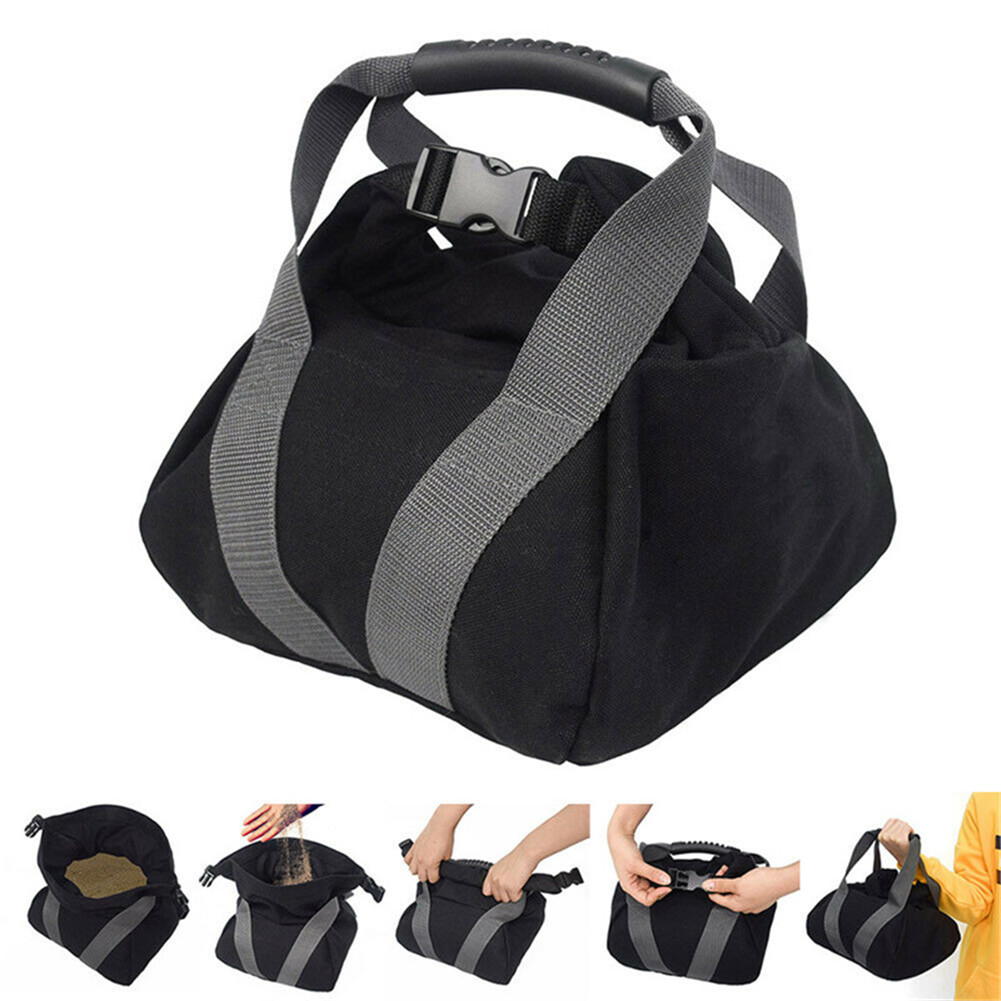 Portable Kettle bell Sand Bag Adjustable Hume Gym Workout Fitness Weightlifting