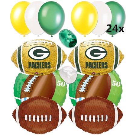 Green Bay Packers NFL Playoffs Football Balloons Decorating ...