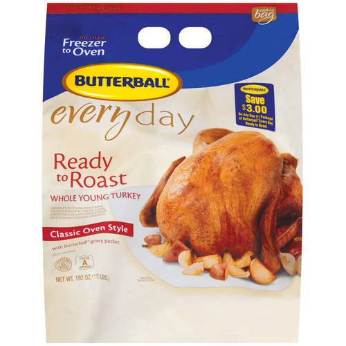 Frozen Butterball EveryDay Young Ready To Roast Classic Oven Style Whole Turkey, 192 oz