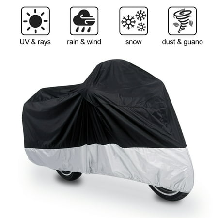 XXXL 180T Black+Silver Motorcycle Cover For  Goldwing 1100 1200 1500