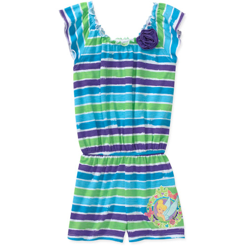 Disney Baby Girls' Tinkerbell Stripe Romper