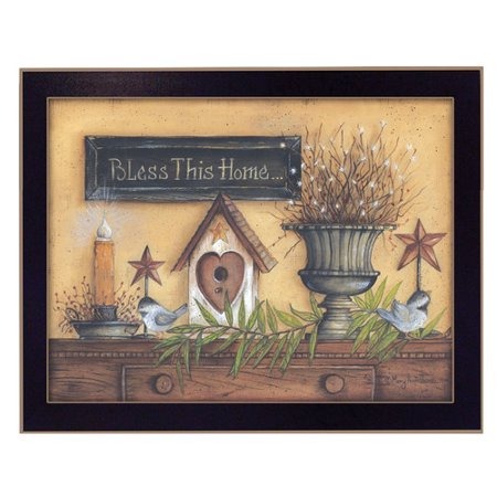 Trendy Decor 4u 39 Bless This Home 39 Framed Graphic Art Print