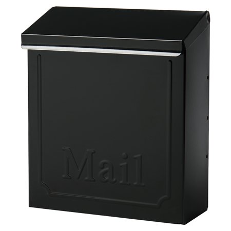 Gibraltar Mailboxes Townhouse Locking Galvanized Steel Black Wall Mount Mailbox, - Residential Locking Mailboxes