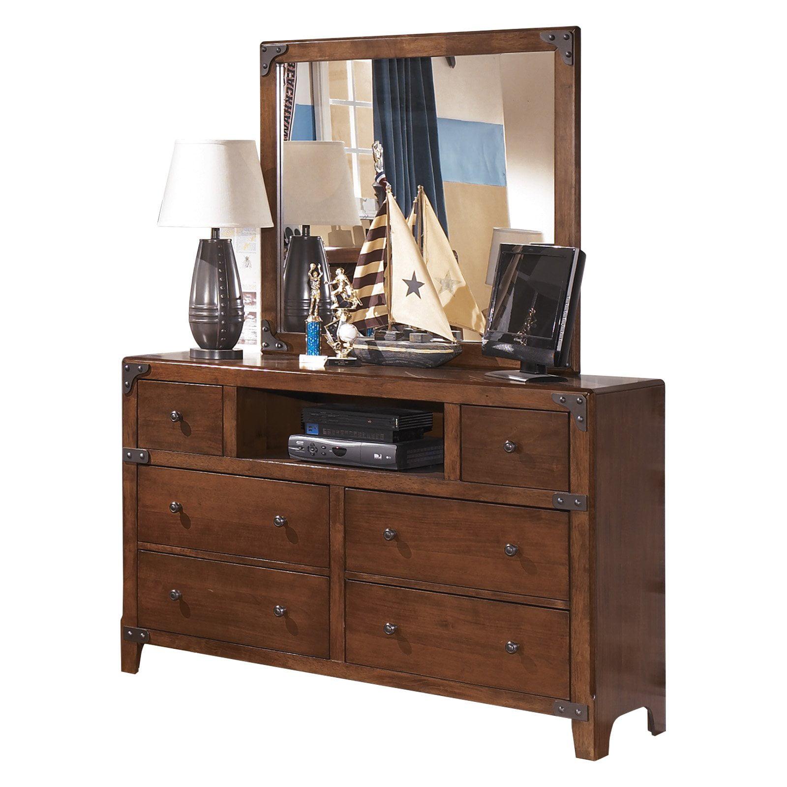 Signature Design by Ashley Delburne 6 Drawer Dresser with Mirror