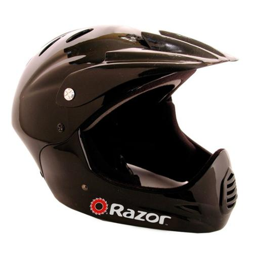 Razor Youth Full Face Riding Sport Scooter Helmet - Glossy Black | 97775