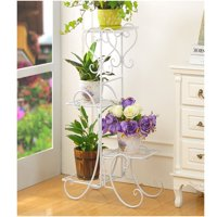 4 Tier/6 Tier Stainless Steel Flower Planter Plant Stand Garden Display Holder Shelf Rack for Home Room Ornaments Indoor Outdoor Patio