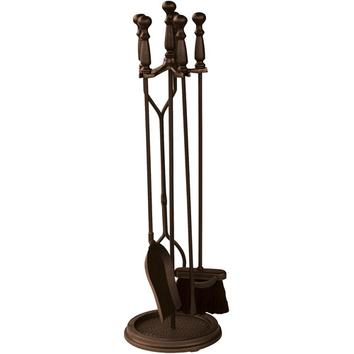 uniflame 5 fireplace tool set bronze finish