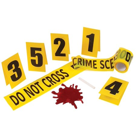 Crime Scene Kit with Blood Splat Halloween Decoration