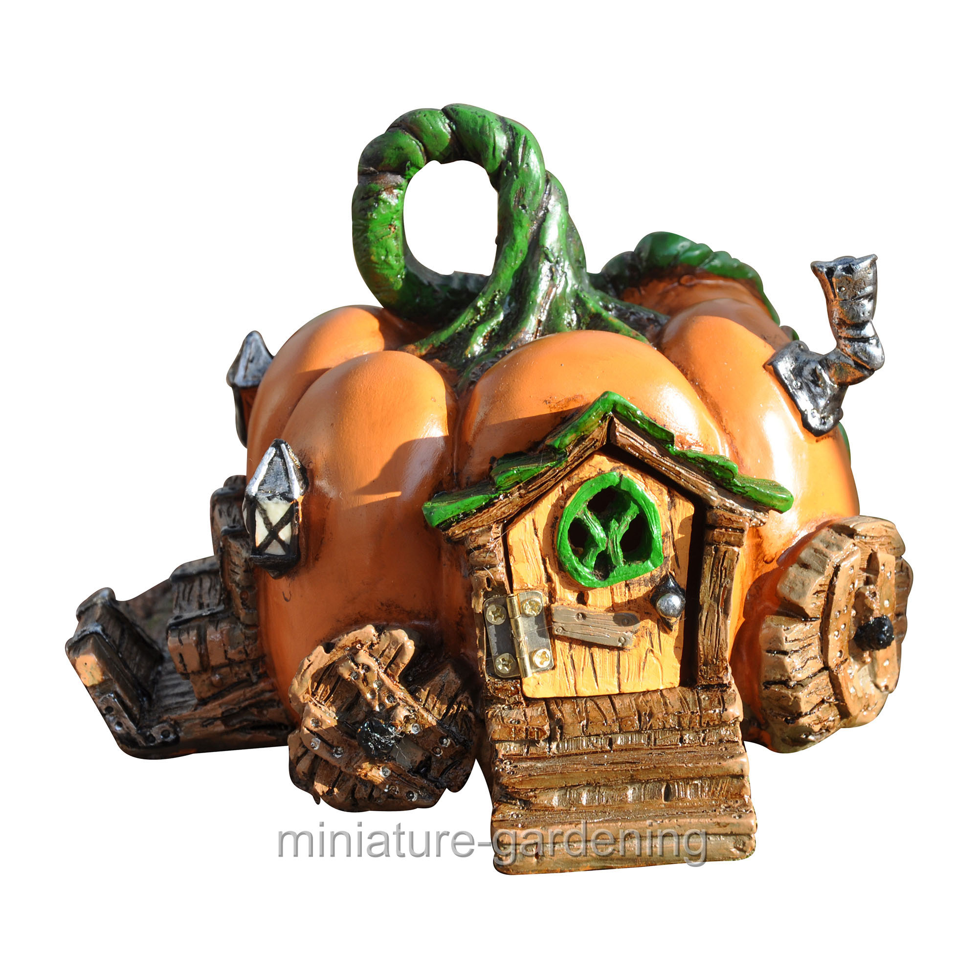 Georgetown Home & Garden Pumpkin Carriage Fairy House for Miniature Garden, Fairy Garden