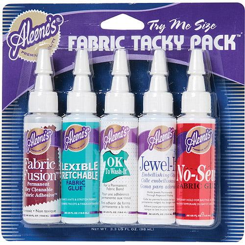 Aleene's Fabric Glue Tacky Pack, 5/pkg