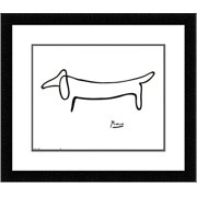 FRAMED The Dog (Le Chien) Drawing by Pablo Picasso 14x11 Art Print Poster Double Mat
