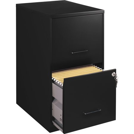 Lorell 2 Drawers Vertical Steel Lockable Filing Cabinet,