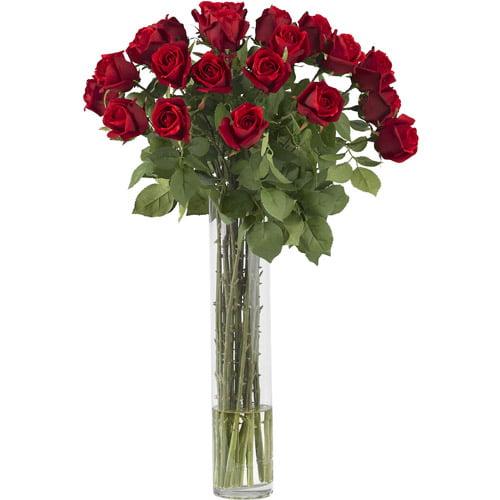 Rosebud with Cylinder Silk Flower Arrangement