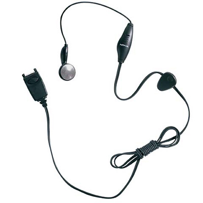 OEM Nokia Headset w/ On/Off Switch for Nokia 6360,3285,6340,5190 - Black