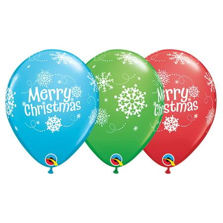 Qualatex Merry Christmas Snowflakes 11