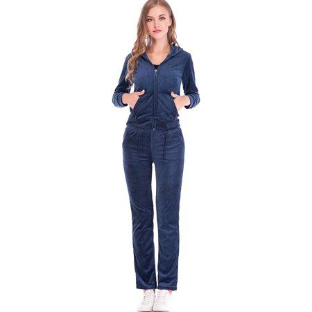 SAYFUT - SAYFUT Velour Tracksuit For Women Jogging Pant Sets Velour Suit  Set Womens Tracksuit With Hoodie Purple Blue M-2XL - Walmart.com 9ac2276d3