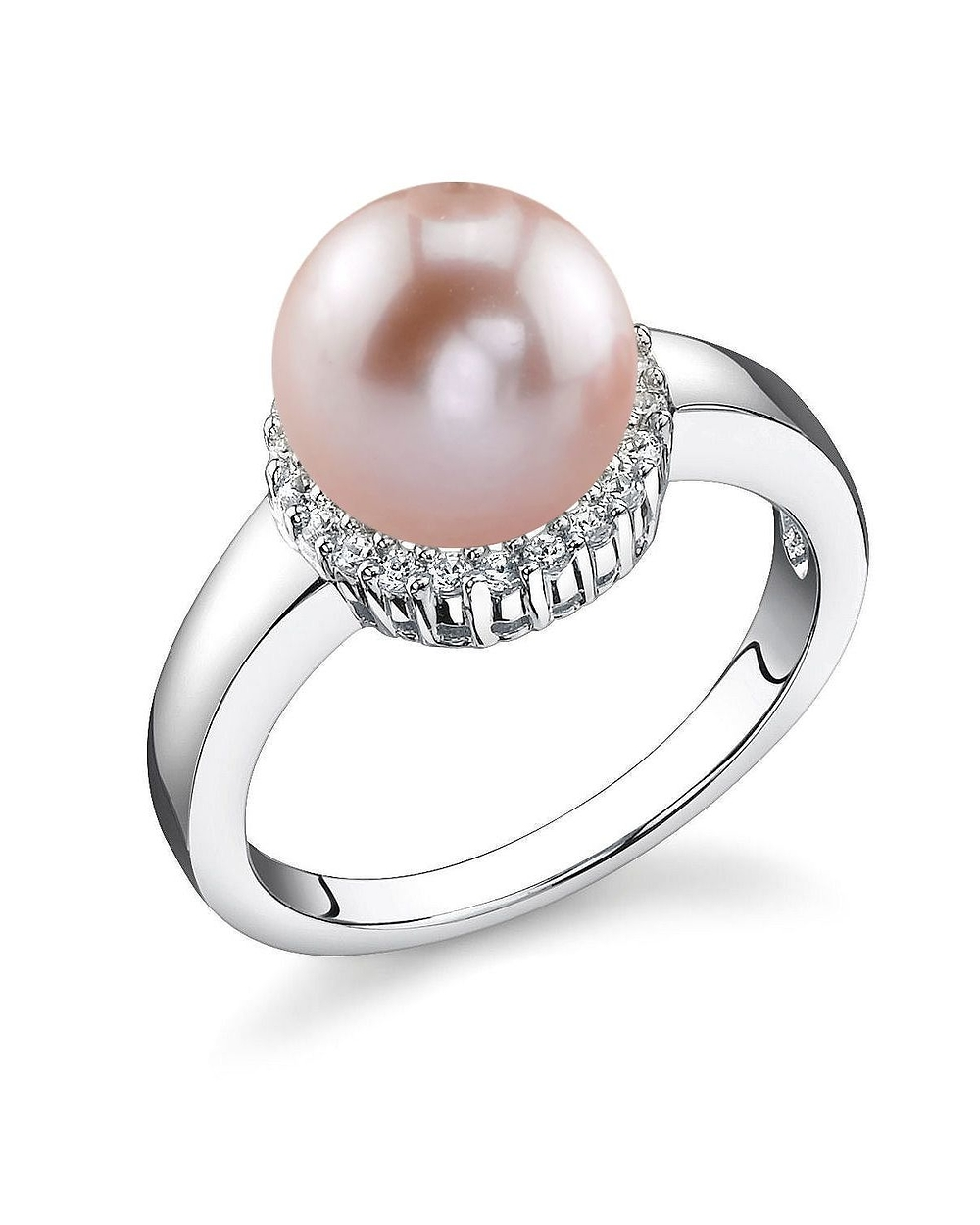 8mm Pink Freshwater Cultured Pearl Ashley Ring