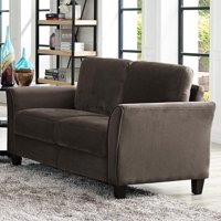 Lifestyle Solutions Alexa Rolled-Arm Upholstered Fabric Loveseat