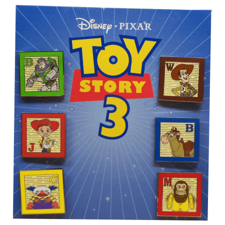 Pixar Up Merchandise (Toy Story 3 Collector Character Toy Block Decorative Pin Set [Buzz - Woody - Jessie - Bullseye - Chuckles - Monkey] Square Metal Disney Pixar Cartoon Animated Movie Merchandise Memorabilia)