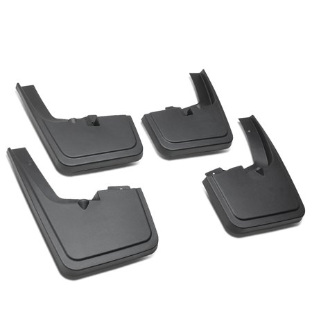 For 2015 to 2018 Ford F150 with OE Wheel Lip Moulding Front+Rear 4Pcs Mud Guard Splash Flap Kit