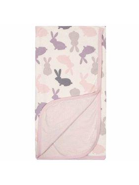 Gerber Baby Girl Reversible Blanket