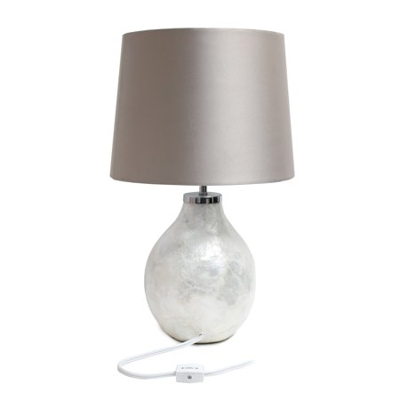 Simple Designs 1 Light Pearl Table Lamp with Fabric Shade - image 1 of 4