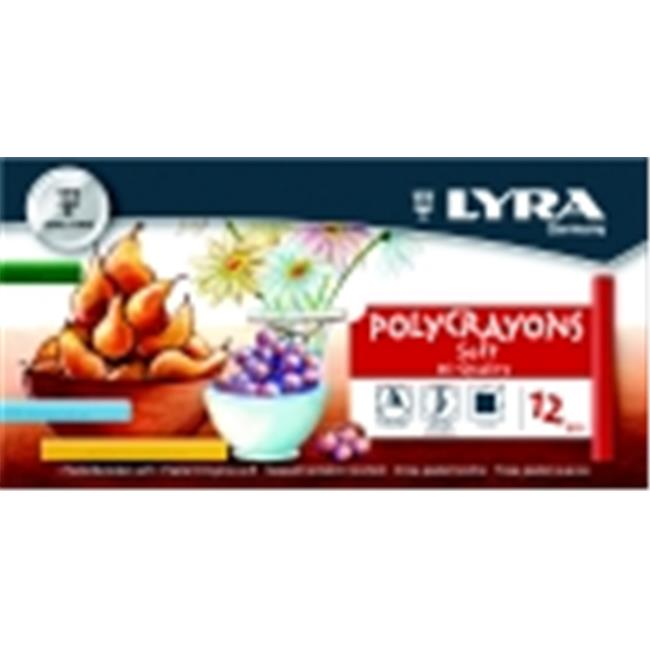 Lyra Non-Toxic Soft Poly-Crayon, Assorted Color, Pack 12