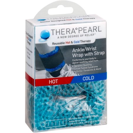 TheraPearl Reusable Hot & Cold Therapy Ankle/Wrist Wrap with Strap 1 ea